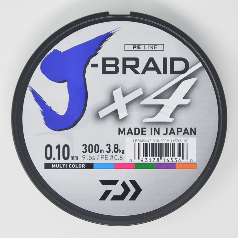 Daiwa Tresse J-Braid X 4 (300m) - 9 lb