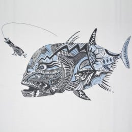 T-Shirt Fisherman GT Tattoo - Blanc