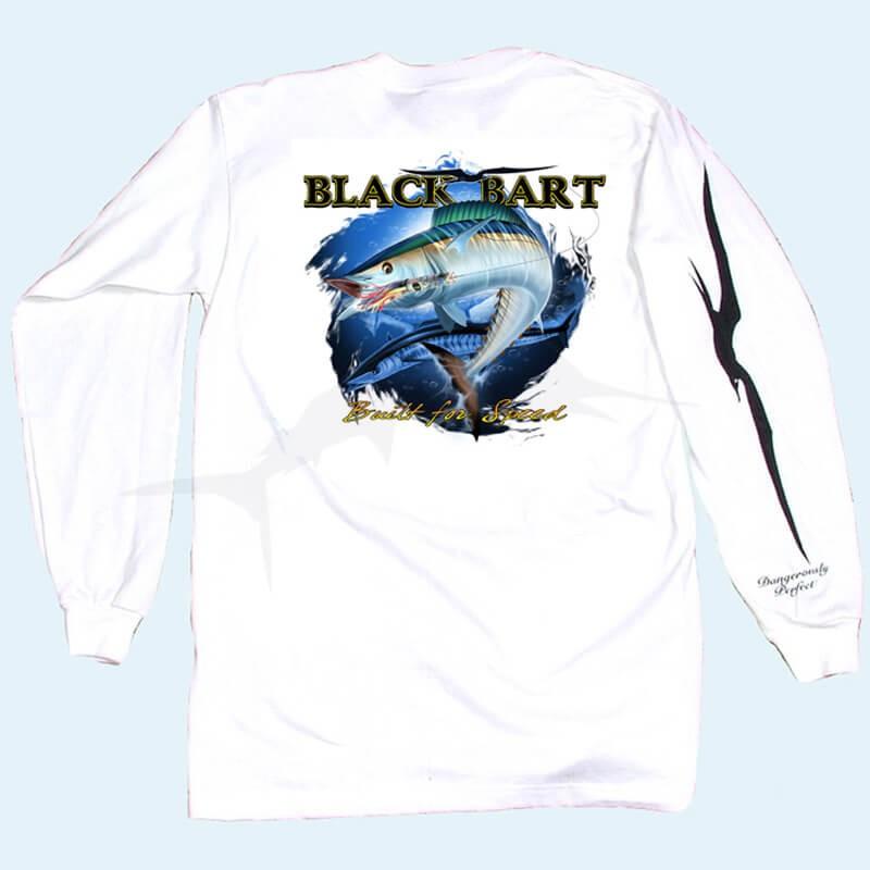 Black Bart Wahoo LS Tee