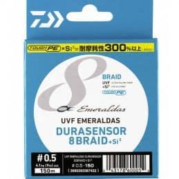 Daiwa Tresse Emeraldas Durasensor 8 Braid +Si2