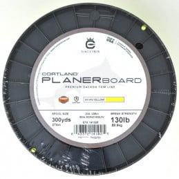 Cortland Planer Board Dacron Tow Line - Yellow - 130 LB