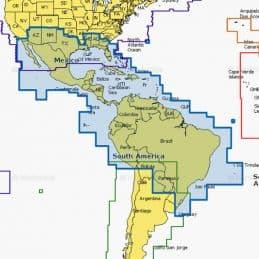 Carte Navionics Large SD Mexico, Caribbean to Brazil
