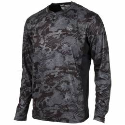 Pelagic Performance Patrol Henley Ambush Long Sleeve - Navy Front