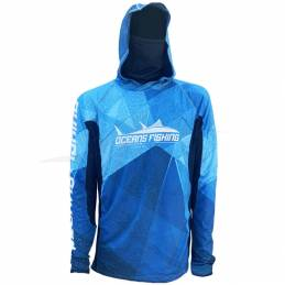 L-Shirt Oceans Fishing Deep Blue V2