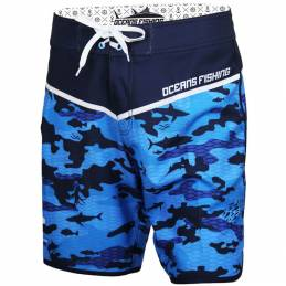 Boardshort Oceans Fishing Camo Bleu