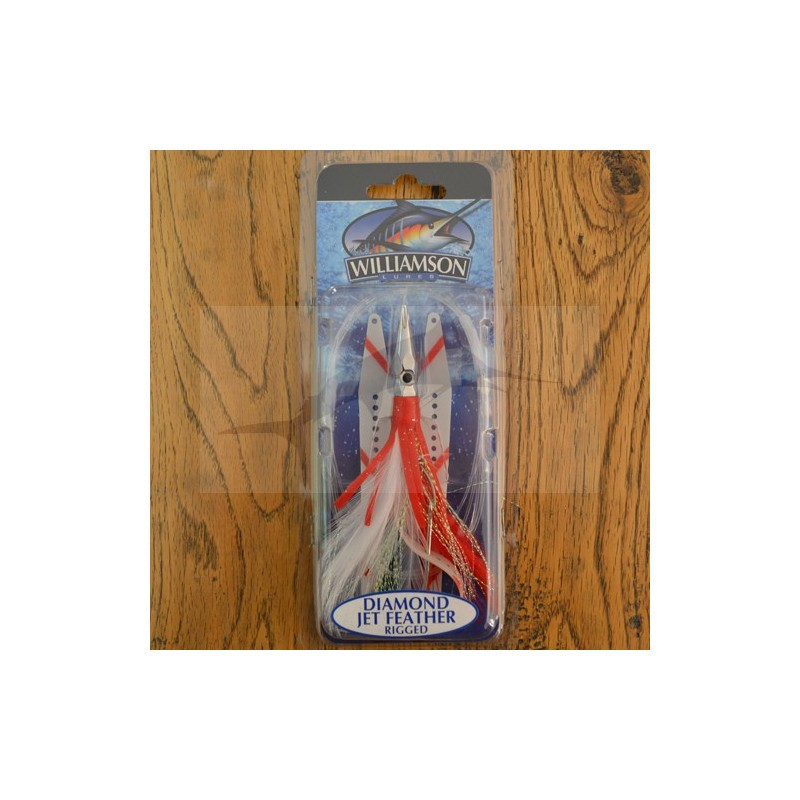 Lure Williamson Diamond Jet Feather with Sonic Strip - Red