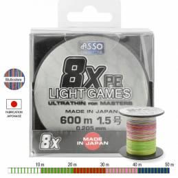 Asso Tresse Light Games 8x Multicolore