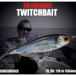 Yo-Zuri 3D Inshore Twitchbait SS CHARTREUSE