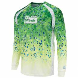 Pelagic VaporTek Dorado Long Sleeve - Green - Front