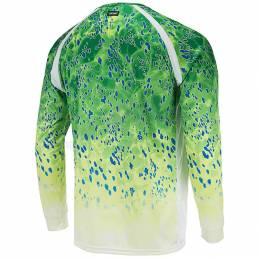 Pelagic VaporTek Dorado Long Sleeve - Green - Back