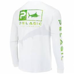 Pelagic Aquatek Icon LS - Green Dorado - Back