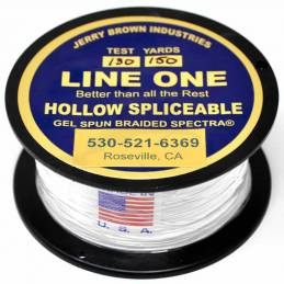 Jerry Brown Spliceable Hollow (150YDS) - 130 lbs - Blanche