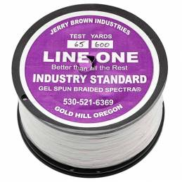 Jerry Brown Solid Braid (600YDS) - 65 lbs - White