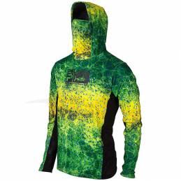 Pelagic Exo-Tech Shirt - Dorado Green - front