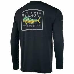 Pelagic Aquatek Game Fish Performance LS - Black - back
