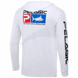 Pelagic Aquatek Hoody LS - Icon Dorado Blue - back