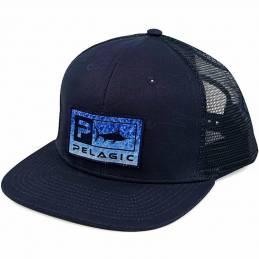 Casquette Pelagic Icon Snapback - Blue Dorado - avant