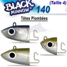 Tetes Plombee off shore Fiiish Black Minnow N°4